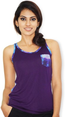 Riot Jeans Casual Sleeveless Floral Print Women's Purple Top