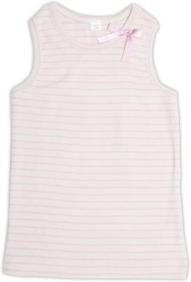 Nino Bambino Casual Sleeveless Striped Baby Girl's Pink Top