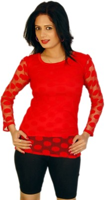 Feminine Casual Full Sleeve Solid Women's Multicolor Top