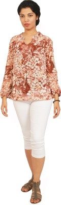 Isadora Casual Full Sleeve Floral Print Women's Multicolor Top