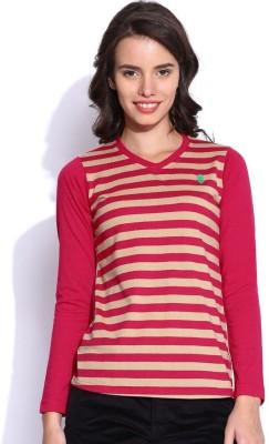 Duke Stardust Casual Full Sleeve Striped Women's Pink Top