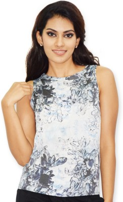Riot Jeans Casual Sleeveless Floral Print Women's White Top