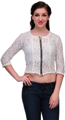 Samayra Casual 3/4 Sleeve Woven Women's White Top