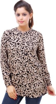 Kashana Fashions Casual Full Sleeve Printed Women's Black Top