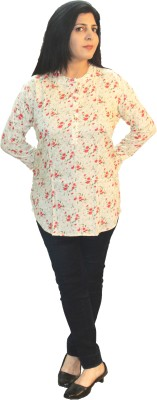 Shonaa Casual Full Sleeve Floral Print Women's Multicolor Top