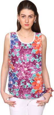 Bedazzle Casual Sleeveless Floral Print Women's Multicolor Top at flipkart