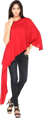 AATMIK Casual Full Sleeve Printed Women's Red Top