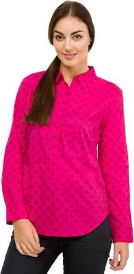 Tokyo Talkies Casual Full Sleeve Printed Women's Pink Top