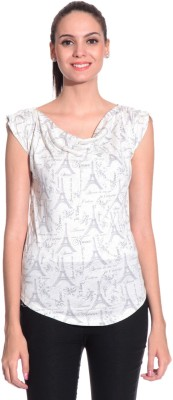 Styleava Casual Sleeveless Solid Women's White Top