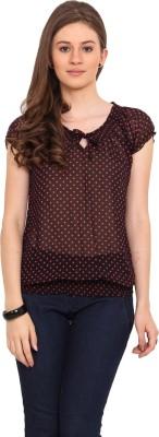 Sweet Lemon Casual Short Sleeve Printed Women's Black, Pink Top