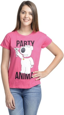 Family Guy Casual Short Sleeve Printed Women's Pink Top