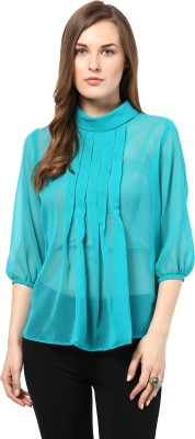 Shakumbhari Casual 3/4 Sleeve Printed Women's Green Top