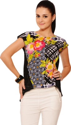 RSVP Cross Casual Sleeveless Printed Women's Multicolor Top