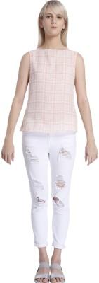 Vero Moda Casual Sleeveless Solid Women's Pink Top