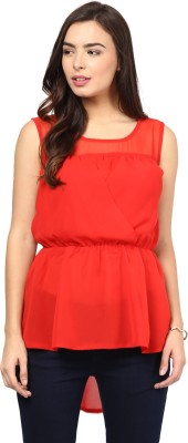 Rockland Life Party Sleeveless Solid Women's Red Top