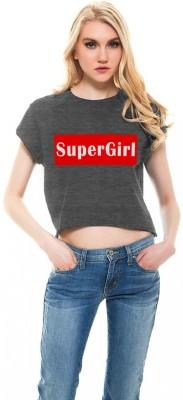 Monzter Popcornz Casual Cap sleeve Graphic Print Women's Grey Top