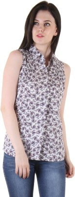 SS Casual Sleeveless Printed Women's Multicolor Top