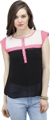 Osumfab Casual Short Sleeve Solid Women,s Black Top