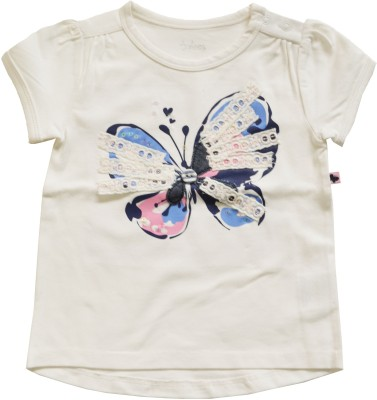 Babeez Casual Short Sleeve Solid Baby Girl's White Top