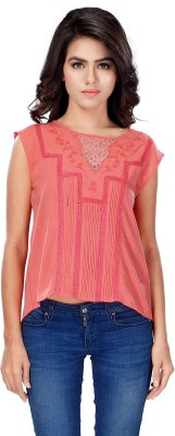 SFDS Casual, Formal, Party Sleeveless Solid Women's Pink Top