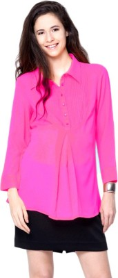MamaCouture Casual Full Sleeve Solid Women's Pink Top