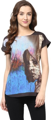 The Vanca Casual Short Sleeve Solid Women's Multicolor Top at flipkart