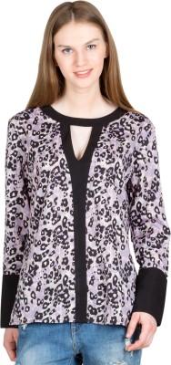 JAPPSHOP Casual Full Sleeve Printed Women's Black Top