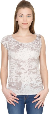 Species Party Sleeveless Embroidered Women's White Top