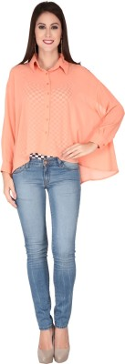 SOIE Casual Full Sleeve Solid Women's Pink Top