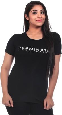 Saiints Casual Short Sleeve Solid Women's Black Top