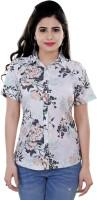 Tantra Women's Clothing - Tantra Women's Polka Print Casual White Shirt