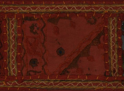 Lal Haveli Vintage Handmade Patch Work Embroidered Cotton Door Valance Hanging Toran(Cotton)