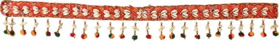 EarthenMetal Handcrafted Beads and Crystal Decorated Colourful Bandhani Style Toran(Fabric, Beads, Crystal)
