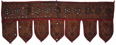 Lal Haveli Ethnic Mirror Work With Elephant And Peacock Design Embroidery Traditional Handmade Bandhanwar Toran