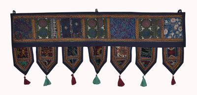 Lal Haveli Modern Cotton Hanging Beads Work Embroidery Design Door Valance Decorative Toran(Cotton)