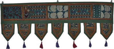 Lal Haveli Handmade Beads and Embroidery Work Door Valance Cotton Toran(Cotton)