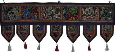 Lal Haveli Decorative Handmade Door Valance Bandhanwar Hanging Toran(Cotton)