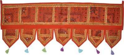 Lal Haveli Ethnic Handmade Mirror Embroideed Toran