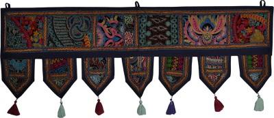 Lal Haveli Beautiful Handmade Khambadiya Design Cotton Door Valance Hanging Toran(Cotton)