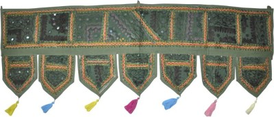 Lal Haveli Ethnic Handmade Patchwork With Embroidered Mirror Work Door Hanging Toran