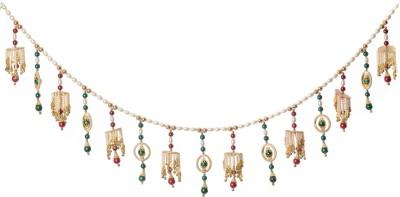 eCraftIndia Elehant Stone And Beads Studded Colorful Bandarwal Toran