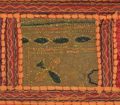 Lal Haveli Ethnic Handmade Beads Work Embroidered Cotton Door Hanging Valance Toran(Cotton)