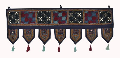 Lal Haveli Handmade Beads and Embroidery Work Cotton Door Valance Hanging Toran(Cotton)