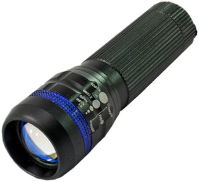 BM Professional CREE ZOOMABLE With LED Flashlight Camping Hike Torch(Black)