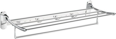 Sunrise 24 INCHES TOWEL RACK Steel, White Metal Wall Shelf