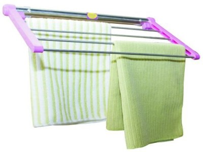 JINZE KTH-40 Pink with Natural Stainless Steel Towel Holder
