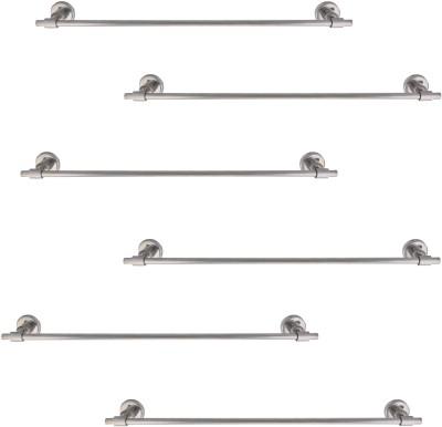 Dolphy Set of 6 Silver Towel Holder