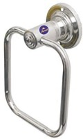 Fortune Stainless Steel Napkin/Towel Ring Square Chrome Towel Holder(Stainless Steel)