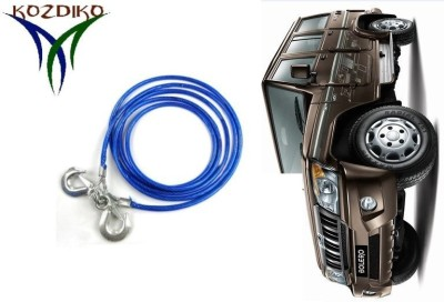 Kozdiko Heavy Duty 7000 Kgs 12MM 4Mtrs Tow Rope for Mahindra Bolero 4 m Towing Cable