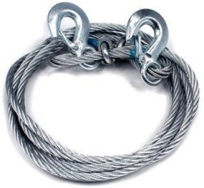 STARMAC Car Auto Full Steel Tow Rope 2000kgs 6mm Heavy Duty 4Mtr 4 m Towing Cable(Steel, 2000 kg Pull Capacity)